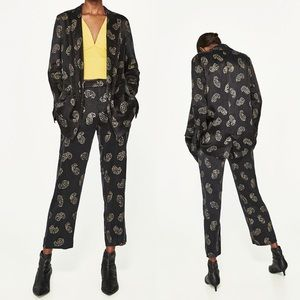 Zara Basic Two-Piece Suit Gold Design